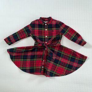 Ralph Lauren Red Tartan Plaid Flannel Shirt Dress
